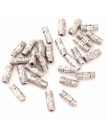perle métal mini tube 8mm