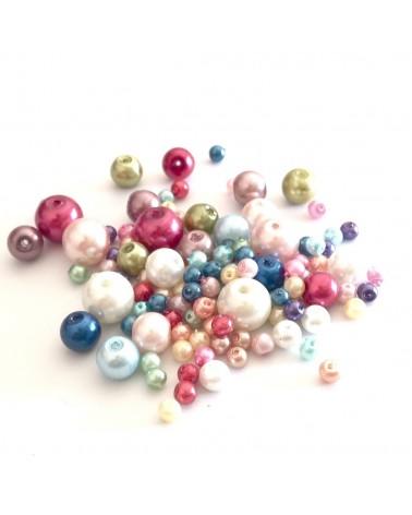 Mix Perle verre cirée