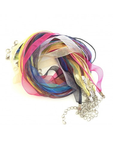 X11 MIX colliers organza 47cm
