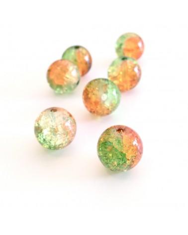 Perles verre craquelé 12mm
