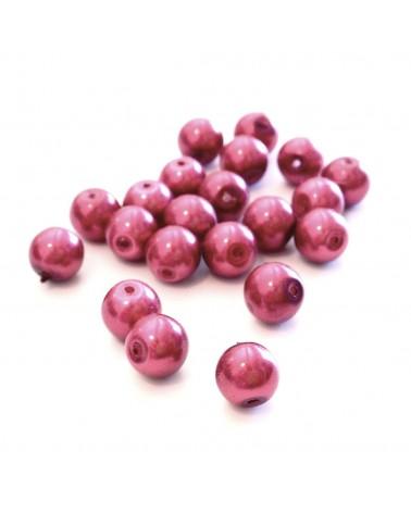 Perles verre cirées 8mm