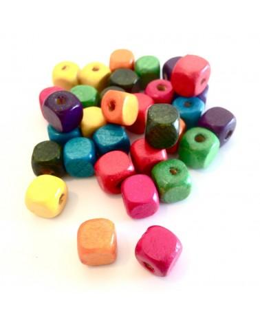 X50 MIX perles bois 10mm