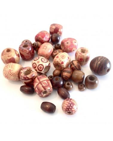 X50 MIX perles bois 6 à 20mm