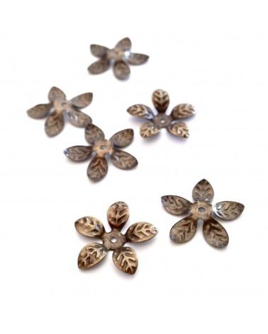 X 10 Coupelles fleurs 15mm
