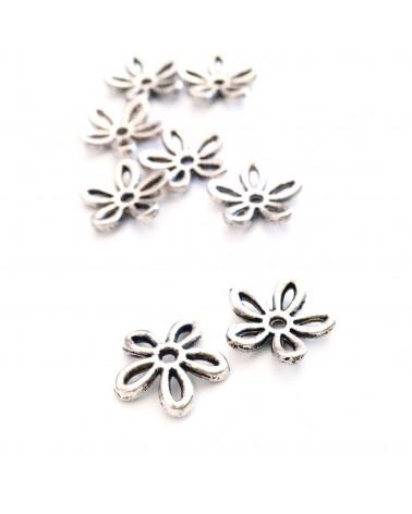 X 10 Coupelles fleurs 11mm