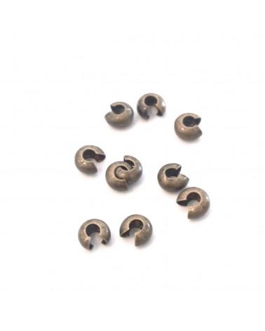 Cache perles à ecraser ou noeud 4mm