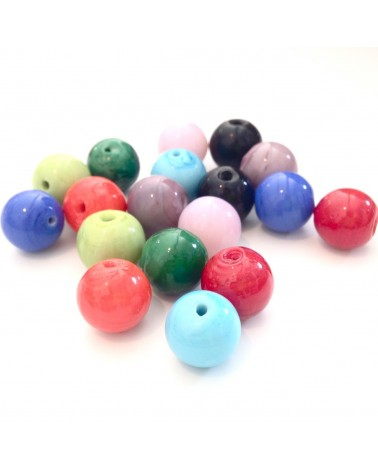MIX Perles verre 10mm