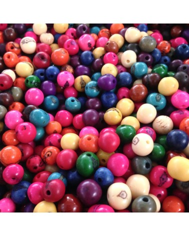 Mix Perles graines d'açai multicolors