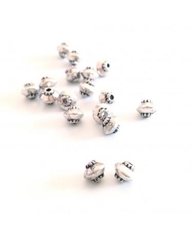 perle métal toupie 4mm