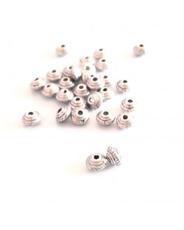 perle métal soucoupe 4x3mm