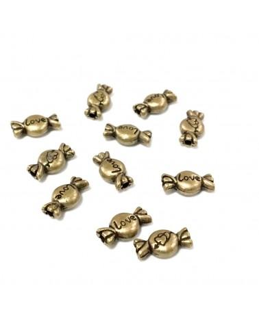 X2 Perles bonbons 11x6mm