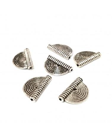 X2 Perles demi rond plat 16x10mm
