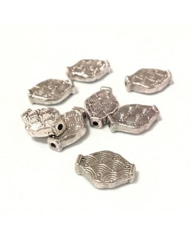 X2 Perles métal losanges 14x10mm