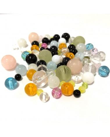 Perles en verre Lisses
