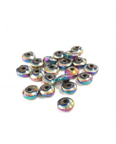 x15 rondelles Hématite 6x3mm