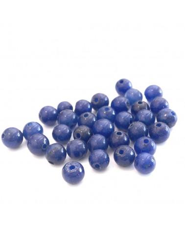X2 Lapis Lazuli synth teintées 4mm