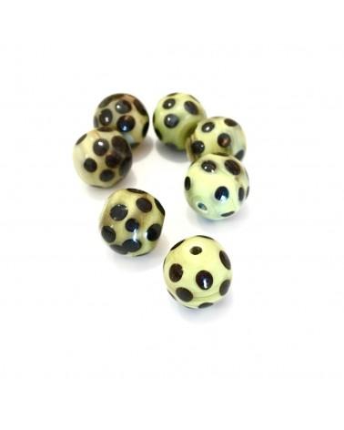 X1 perle verre fait main 10mm