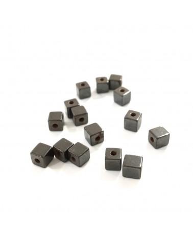 X20 Hématites cube 4mm