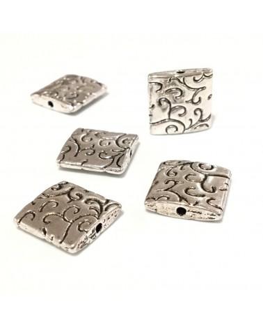 X1  Perles carrées plates 15mm