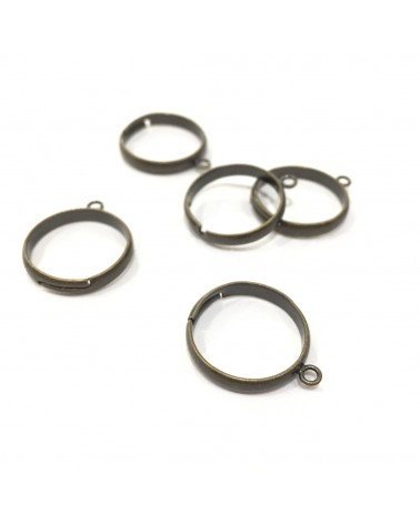 x2 bague 1 anneau bronze