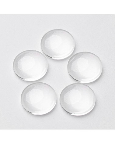 x5 cabochons verre 25mm