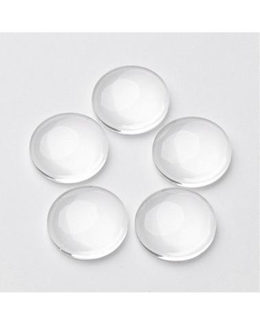 x15 cabochons verre 20mm