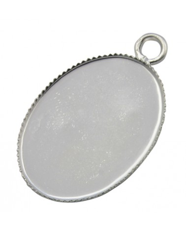 x3 supports pour cabochon 25x18mm