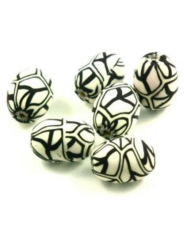 x30 perles Fimo 16x13mm