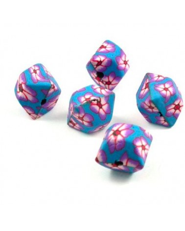 x10 perles Fimo Cube 14,5mm