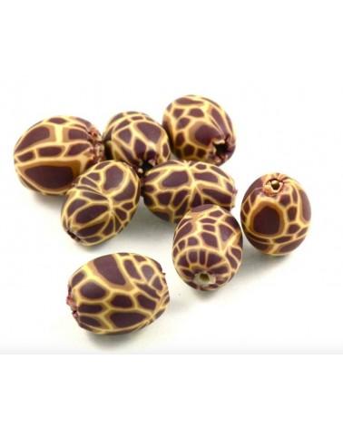 x30 perles Fimo 10mm