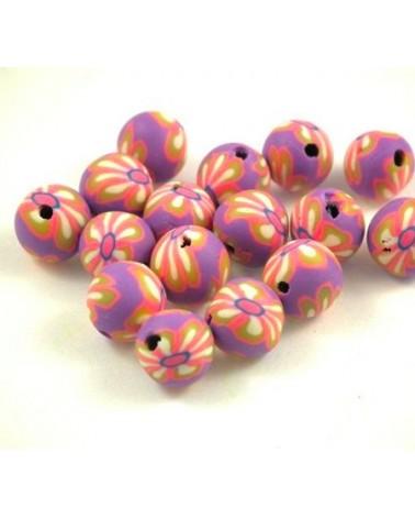x10 perles Fimo 8mm