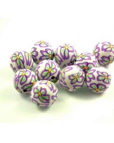 x10 perles Fimo 12mm