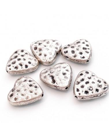 perle métal coeur 15mm