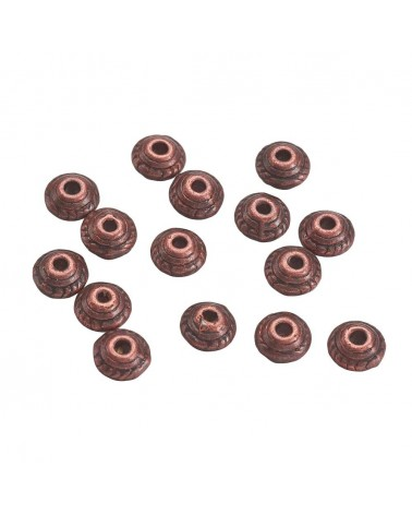 x10 Perles métal soucoupe 5x3mm