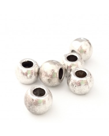 X1 perle métal ronde 6x7mm
