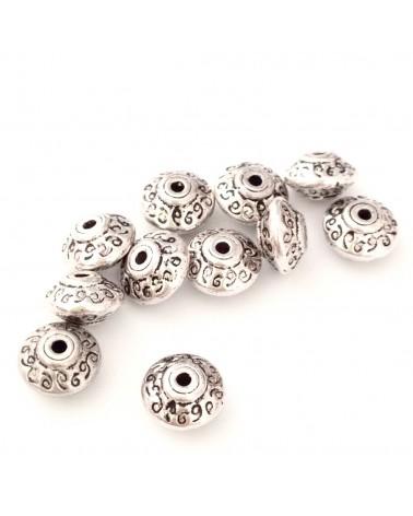 perle métal soucoupe 7mm