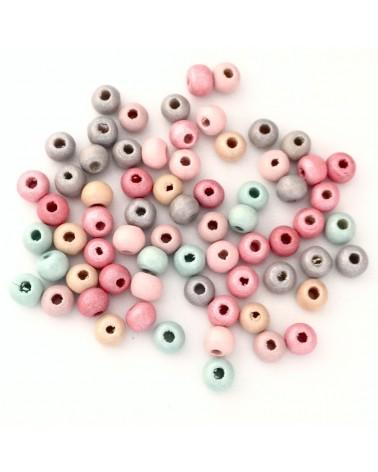 MIXE perle bois 6x4mm
