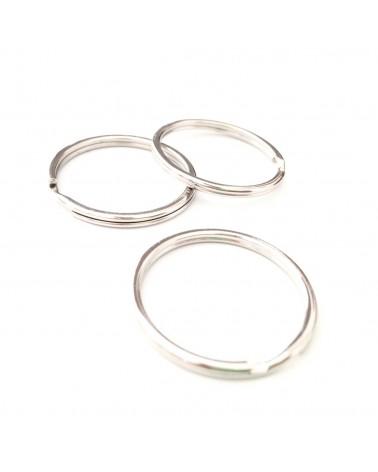 X1 anneau double porte clef 25mm
