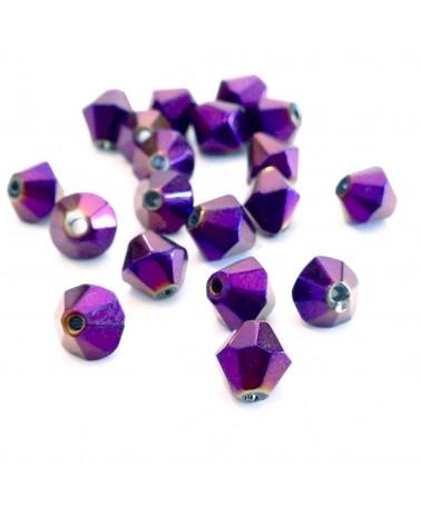 X5 Perle Toupie facettes 6mm