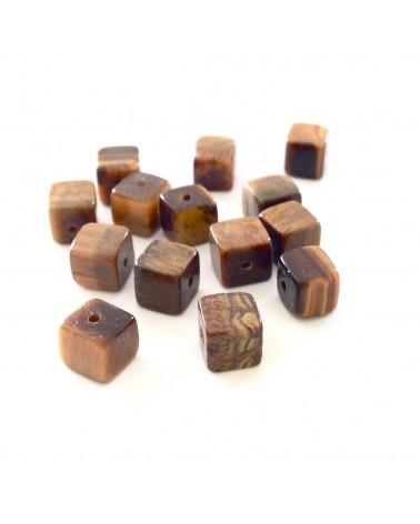 X2  Oeils du Tigre cubes 6mm