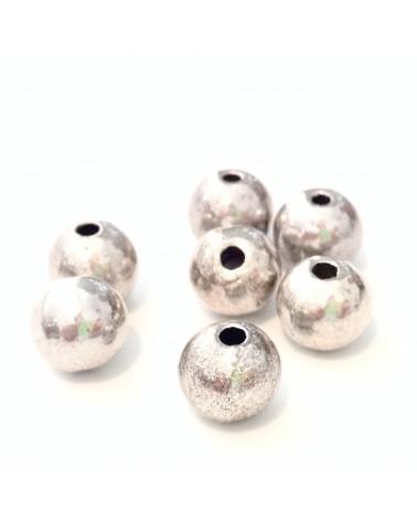 X20 perles métal rondes 7mm
