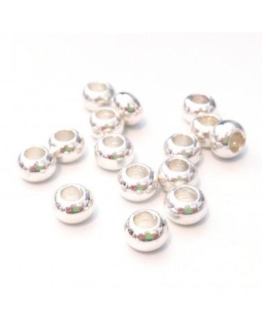 X1 perle métal rondelle 6x3mm