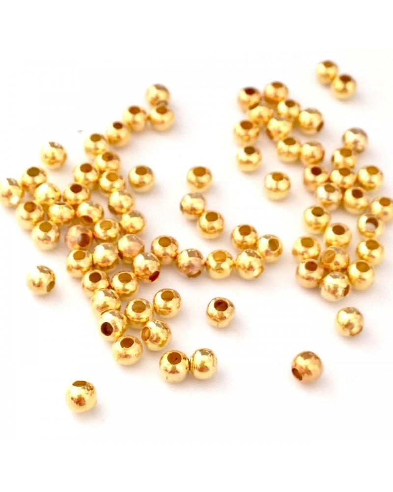 perle métal ronde 3mm