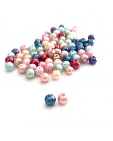 Mix Perle verre cirée 3mm