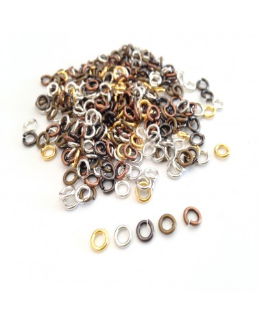 Mix 100 Anneaux métal 5 ou 6mm