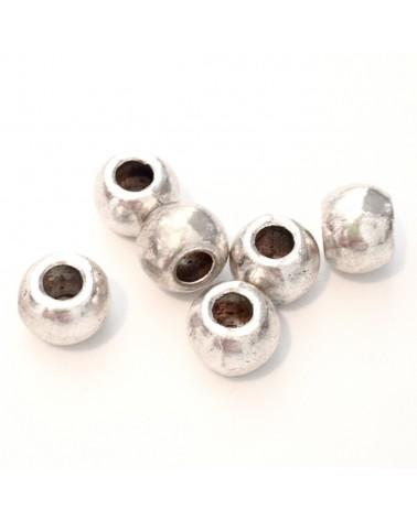 perle métal ronde 6x7mm