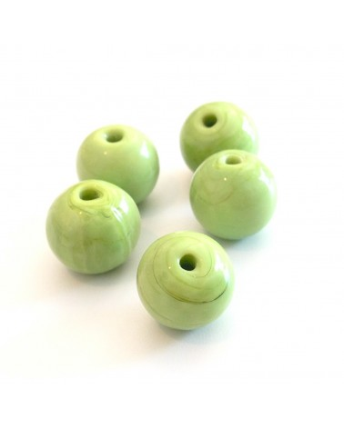 X 2 Perles verre 10mm