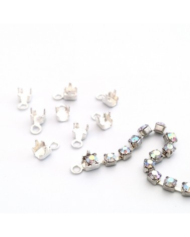 embout pour chaine strass 2mm
