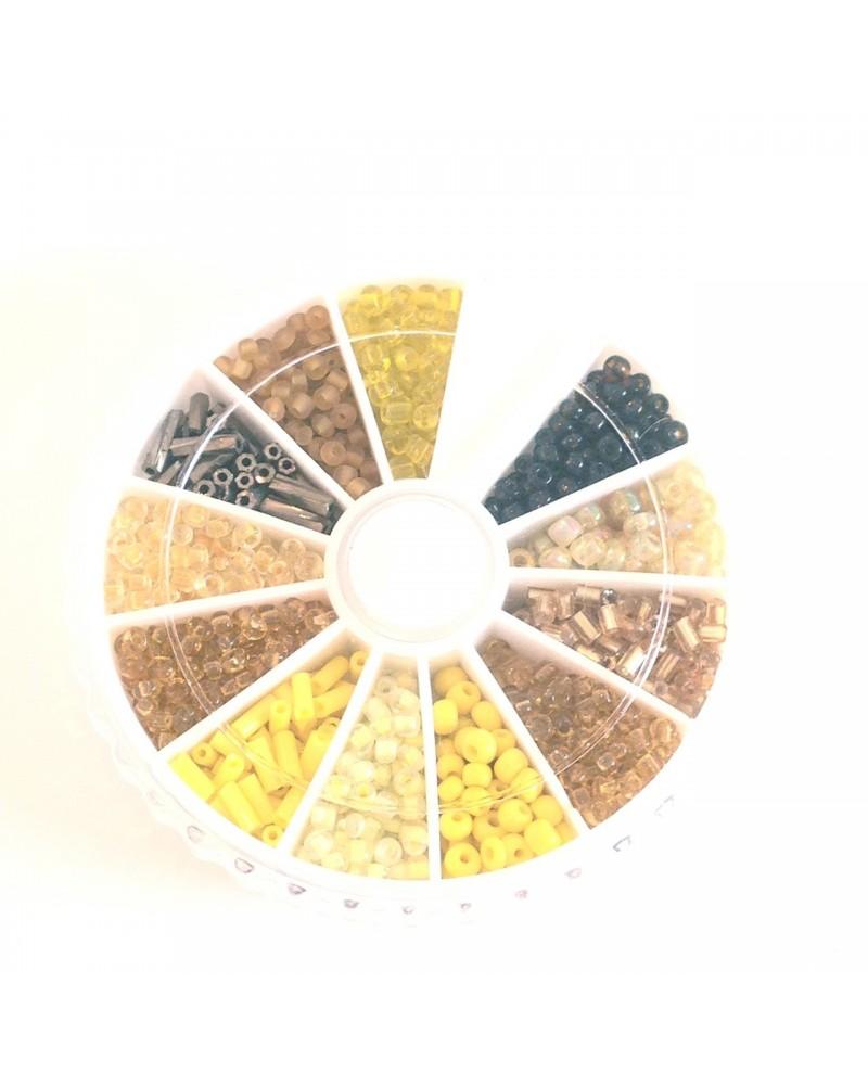 Boite 1200 perles rocaille 2mm