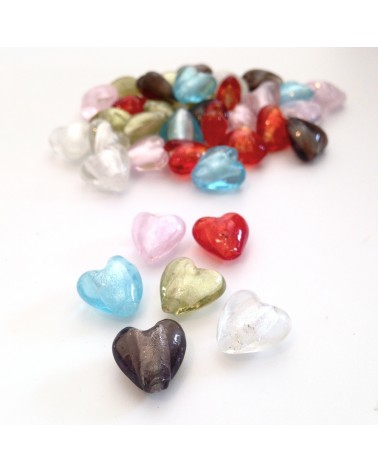 Perles feuilles d'argent 13x11mm